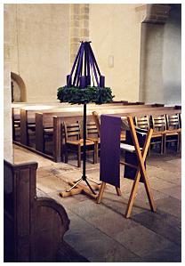 klosterkirche lippoldsberg adventszeit 1 advent. Black Bedroom Furniture Sets. Home Design Ideas